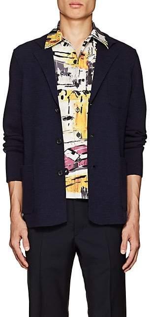 Prada Men's Wool-Cashmere Three-Button Sportcoat Cardigan - Navy