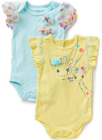 Baby Starters Baby Girls 3-12 Months Love You Giraffe Bodysuit Two-Pack
