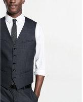 Express gray end-on-end suit vest