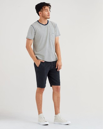 7 For All Mankind Chino Short in Washed Black