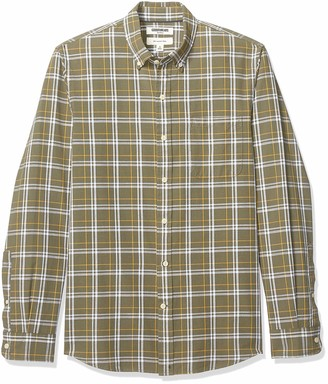 Goodthreads Amazon Brand Men's Slim-Fit Long-Sleeve Chambray Shirt