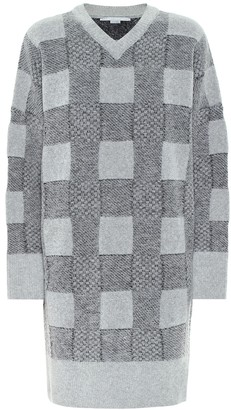 Stella McCartney Checked wool-blend sweater dress