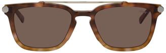 Brioni Tortoiseshell Square Sunglasses