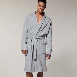 Indigo Mens Essential Robe Heather Grey Large-Extra-Large
