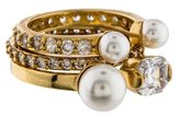 Henri Bendel Midi Pearl Ring Set