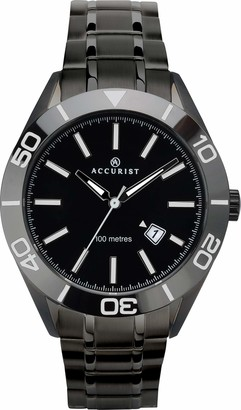 Accurist Mens Analogue Classic Quartz Watch with Solid Stainless Steel Strap 7223