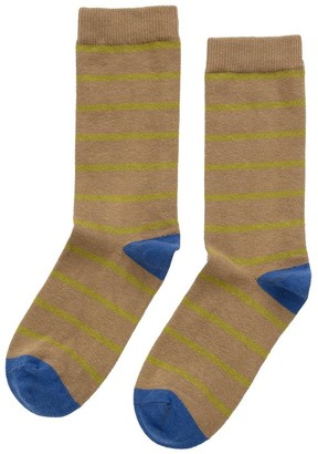 Velvet by Graham & Spencer Club Stripe Crew Sock By Little River Sock Mill