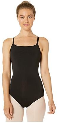 Bloch Nylon Adjustable Strap Leotard (Black) Women's Jumpsuit & Rompers One Piece