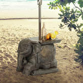 BombayOutdoors Elephant Umbrella Base Bistro Table