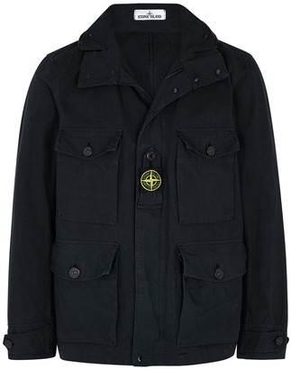 Stone Island Navy cotton-blend CORDURA jacket