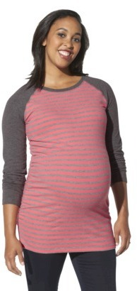 Liz Lange for Target® Maternity Long-Sleeve Sweatshirt - Coral Stripe