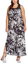 Yours Clothing Yours Women's Butterfly Print Maxi Mesh Shoulder Panel Dress