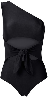 Adriana Degreas Cut Out One Shoulder Swimsuit