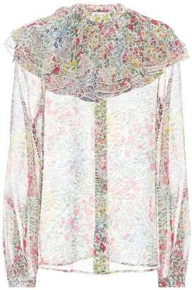 Giambattista Valli Floral silk-chiffon blouse