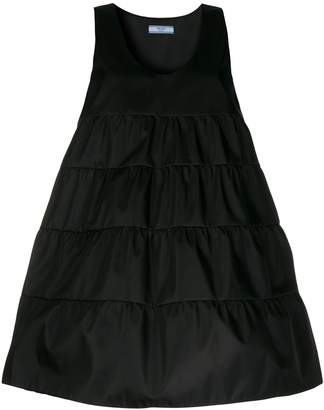 Prada sleeveless tiered smock dress