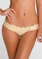 Luli Fama Cosita Buena Wavey Bottom Back Minimal in Gold Rush (L17604)