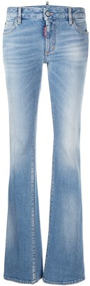 DSQUARED2 Flared Mid-Rise Jeans