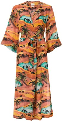 Chufy Safari wrap dress