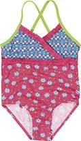 Playshoes Girl's UV Sun Protection Bathing Suit Flowers Swimsuit,5 Years (Manufacturer Size:110/116 (5-6 Years))