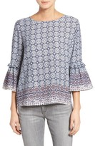Gibson Women's Tie Back Bell Sleeve Top