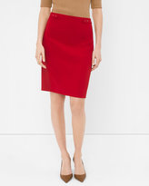 White House Black Market Seamed Ponte Skirt