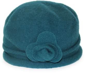 Cloche Parkhurst Flower Wool Hat