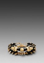 Ettika Gold Skull Wrap Bracelet