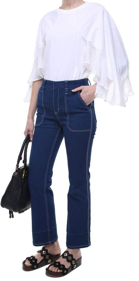 See by Chloe Contrast-stitch High-rise Denim Jeans