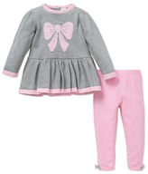 Little Me Baby Girls Two-Piece Bow Sweater and Leggings Set