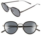 Bottega Veneta Women's 49Mm Round Sunglasses - Ruthenium/ Ruthenium/ Smoke