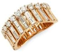 Anita Ko Diamond& Gold Ava Wave Ring