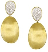 Marco Bicego Diamond Lunaria Two Drop Large Earrings in 18K Gold