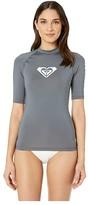Roxy Whole Hearted Short Sleeve Rashguard (Turbulence) Women's Swimwear
