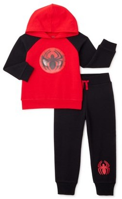 Spiderman Baby Boy & Toddler Boy Hoodie Sweatshirt & Jogger Pant Outfit Set, 2-Piece (12M-5T)