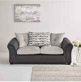 Quartz Fabric Compact 3 SeaterScatter Back Sofa