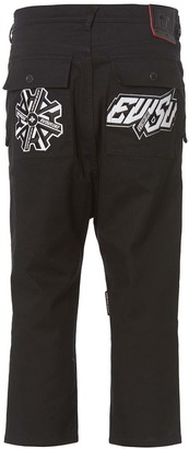 Evisu Drop Crotch Cropped Pants