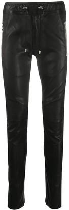 Balmain Skinny Leather Trousers
