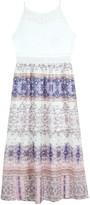 Amy Byer Iz Girls 7-16 & Plus Size IZ Illusion Crochet & Printed Maxi Dress