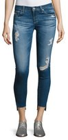 AG Jeans 14 Years Radiant Cropped Skinny Jeans with Step Hem, Indigo