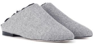 Max Mara Pensile fur-lined slippers