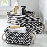 Crate & Barrel Black and White Zig Zag Totes Set of Three