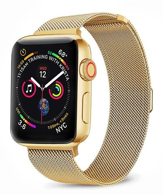Posh Tech Gold Stainless Steel 42mm Apple Watch 1/2/3/4 Loop Band