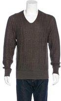 John Varvatos Knit Scoop Neck Sweater