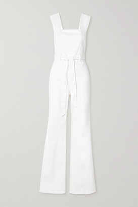 Alice + Olivia Gorgeous Belted Denim Jumpsuit