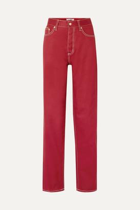 Eytys Benz Boyfriend Jeans - Claret
