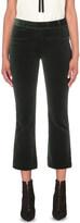 Frame Le Velvet cropped flared trousers