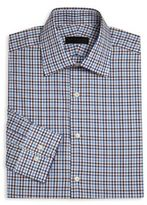 Ike Behar Long Sleeve Checkered Dress Shirt
