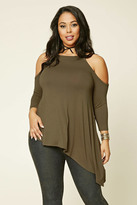 Forever 21 FOREVER 21+ Plus Size Open-Shoulder Top