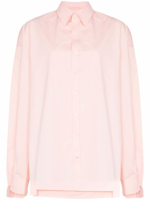 Y/Project Oversized Double-Layer Cotton Shirt