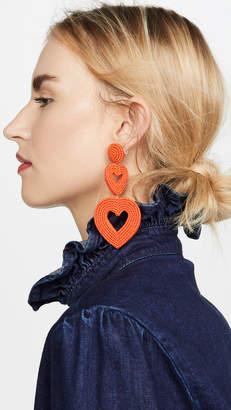 BaubleBar Double Hearts Statement Drop Earrings